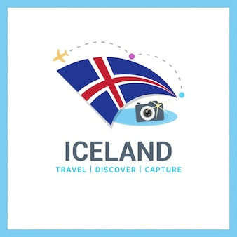 Iceland travel logo