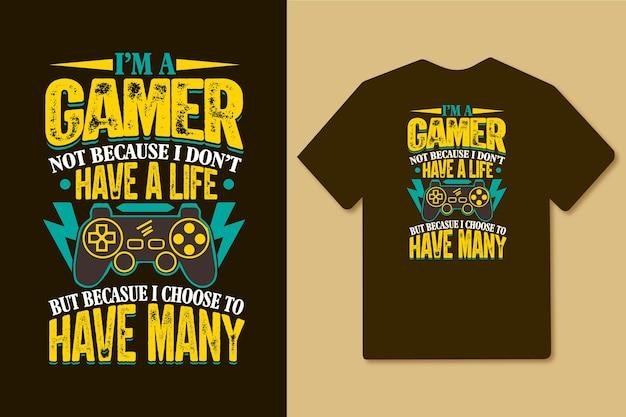 Ich bin ein spieler, nicht weil ich kein leben habe, weil ich mich dafür entschieden habe, viele spieler-t-shirts zu haben