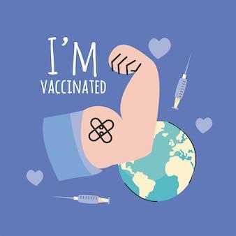 Ich bin geimpft kampagne