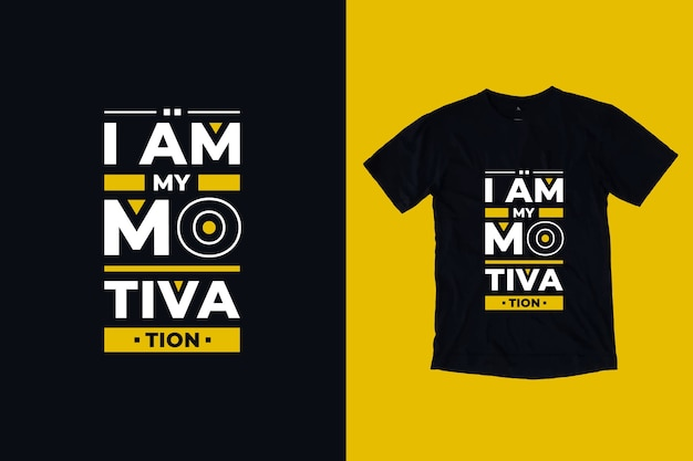 Ich bin meine motivation moderne inspirierende zitate t-shirt design