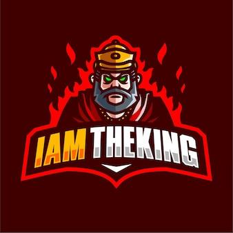 Ich bin theking maskottchen-gaming-logo