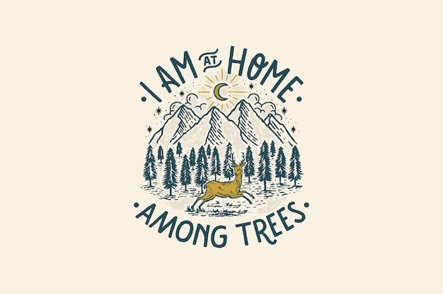 Ich bin zu hause unter bäumen