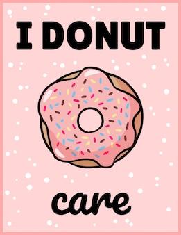 Ich interessiere mich donuts niedliche lustige postkarte.