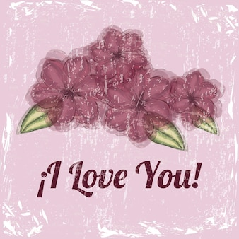 Ich liebe dich blumendesign