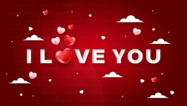 Ich liebe dich hintergrunddesign