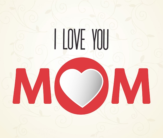Ich liebe dich mama schriftzug