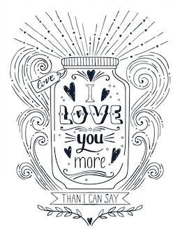Ich liebe dich mehr illustration