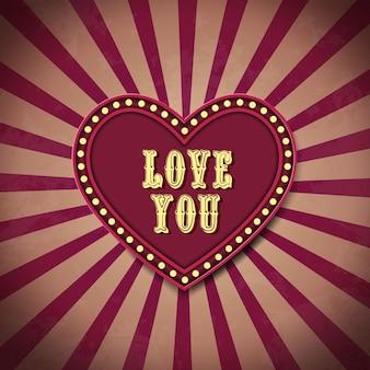 Ich liebe dich postkarte