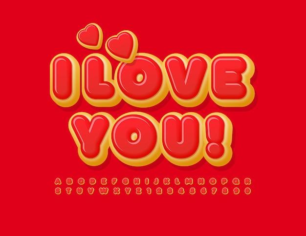 Ich liebe dich schriftart köstliche alphabet buchstaben und zahlen
