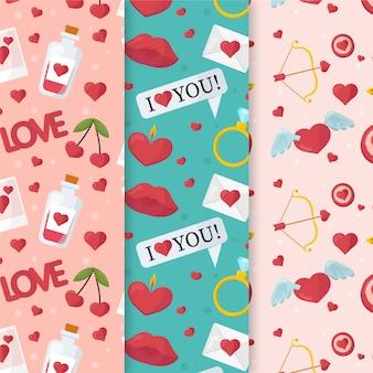 Ich liebe dich valentinstagmuster