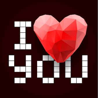 Ich liebe dich, vektorbild