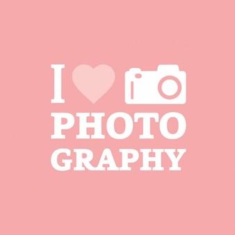 Ich liebe fotografie rosa hintergrund