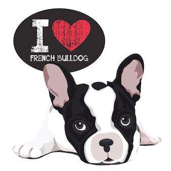 Ich liebe französische bulldogge