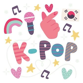 Ich liebe k-pop musik schriftzug