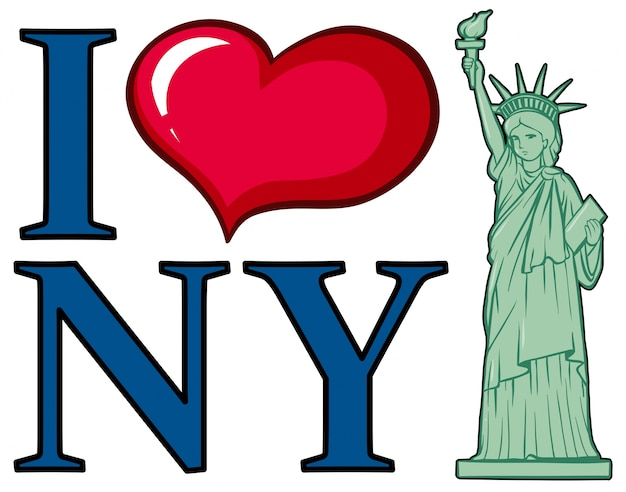 Ich liebe new york city poster design