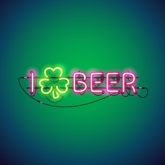 Ich mag bier neon sign