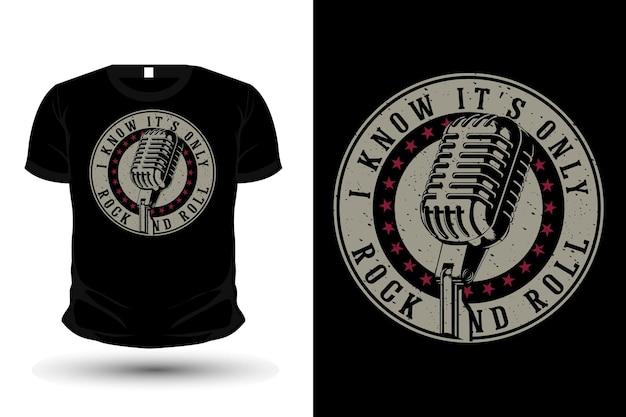 Ich weiß, es ist nur rock'n'roll-typografie-t-shirt-design