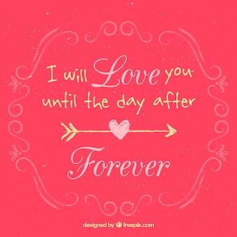 Ich werde dich bis zum tag nach liebe