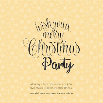 Ich wünsche ihnen einen fröhlichen chrismas night party snowflake-hintergrund
