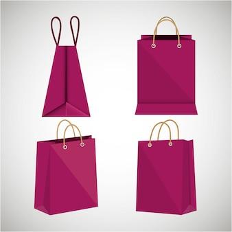 Icon bag fuchsia shop papier design