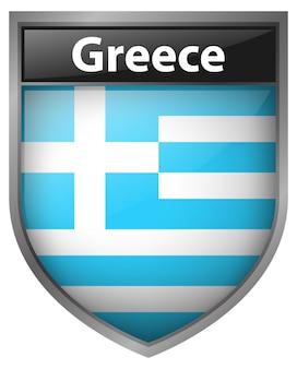 Icon-design für die flagge von griechenland