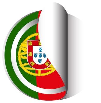Icon-design für die flagge von portugal