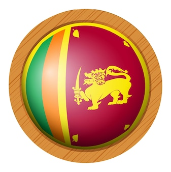 Icon-design für die flagge von sri lanka
