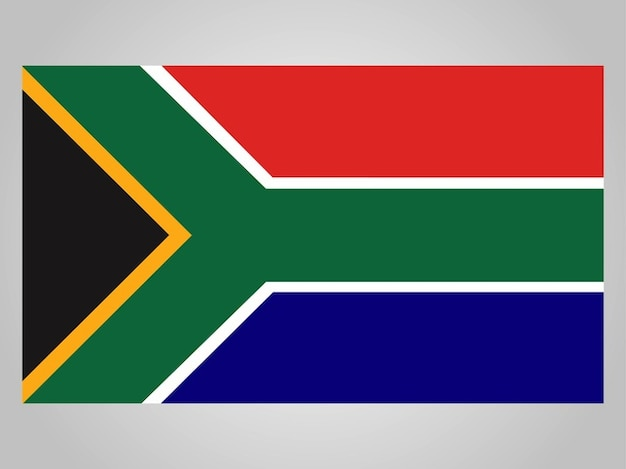 Icon flagge von südafrika
