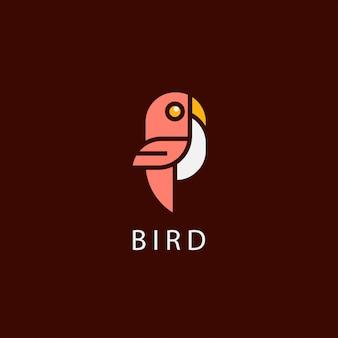 Icon logo mit vogel