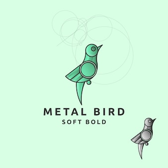 Icon logo vogel mit kreis