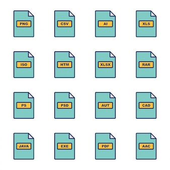Icon set dateiformate