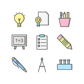 Icon set der bildung