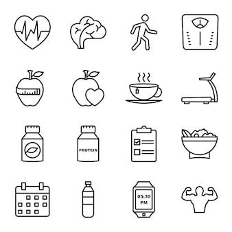 Icon-set der gesundheit