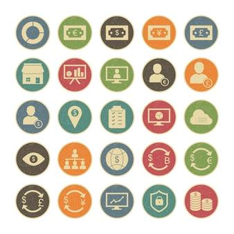 Icon-set des geschäfts für den persönlichen und kommerziellen gebrauch