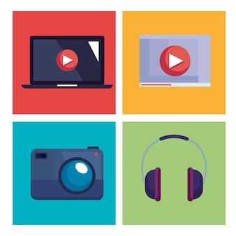 Icon-set für videoproduktion