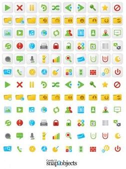 Icon set für web-interfaces