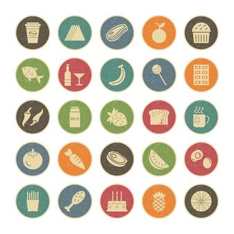 Icon set lebensmittel für den persönlichen und kommerziellen gebrauch