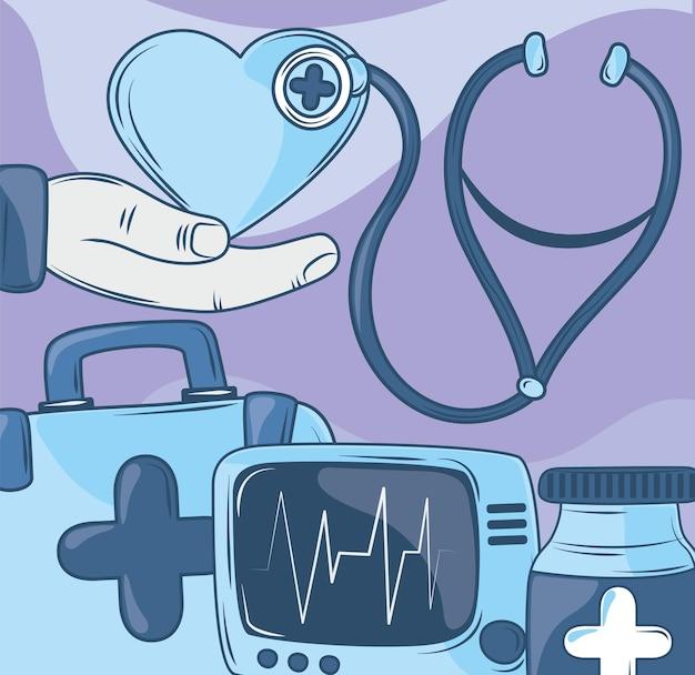 Icon-set medizinisch