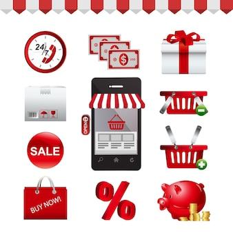 Icon set shopping-symbol