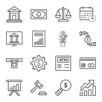 Icon-set von banking