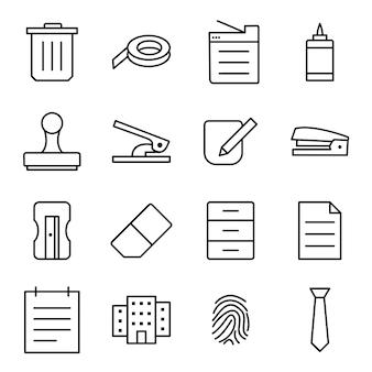 Icon-set von büro