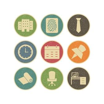 Icon set von büro
