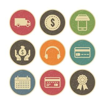 Icon set von e-commerce für den persönlichen und kommerziellen gebrauch