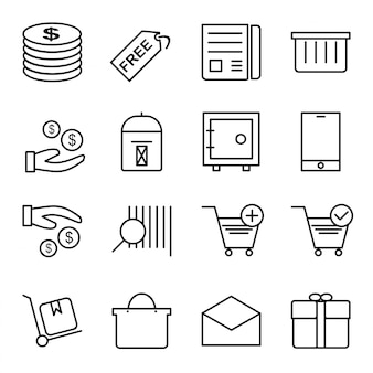 Icon set von e-commerce