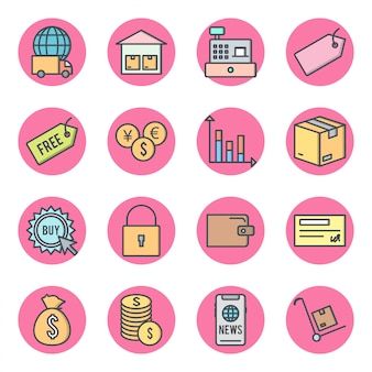 Icon set von e-commerce