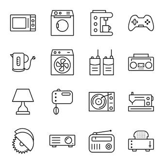 Icon-set von elektronischen geräten