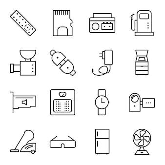 Icon set von elektronischen geräten