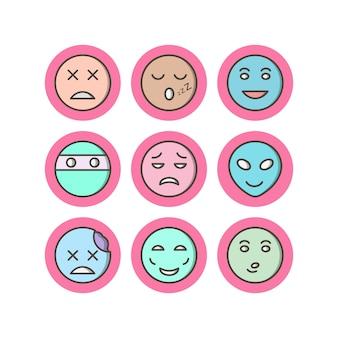 Icon set von emoji