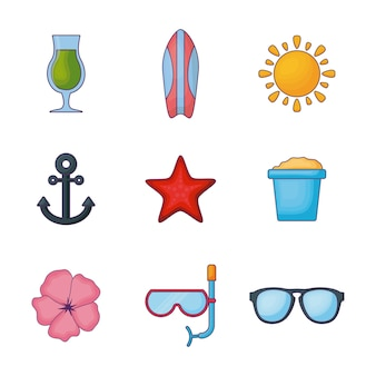 Icon-set von hallo sommer-design