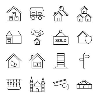 Icon-set von immobilien